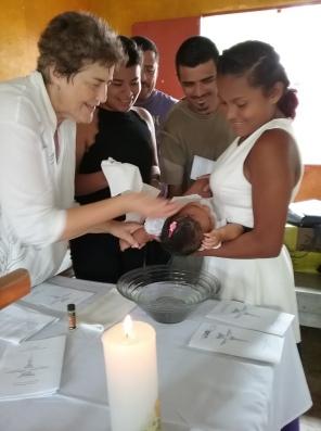 La Esperanza 4-14-2019 baptism of Estephany 1